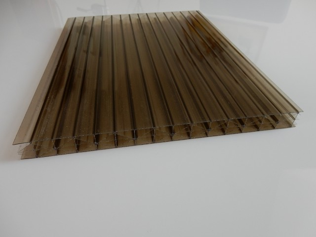 Polycarbonate multiwall sheets, 16 mm, BRONZE