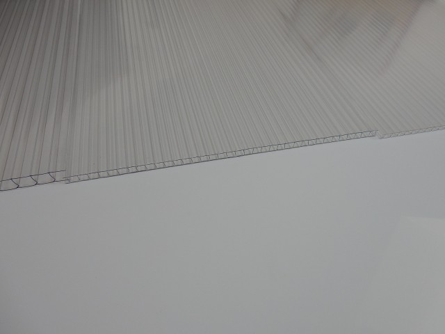 Polycarbonate multiwall sheets, 8 mm, CLEAR